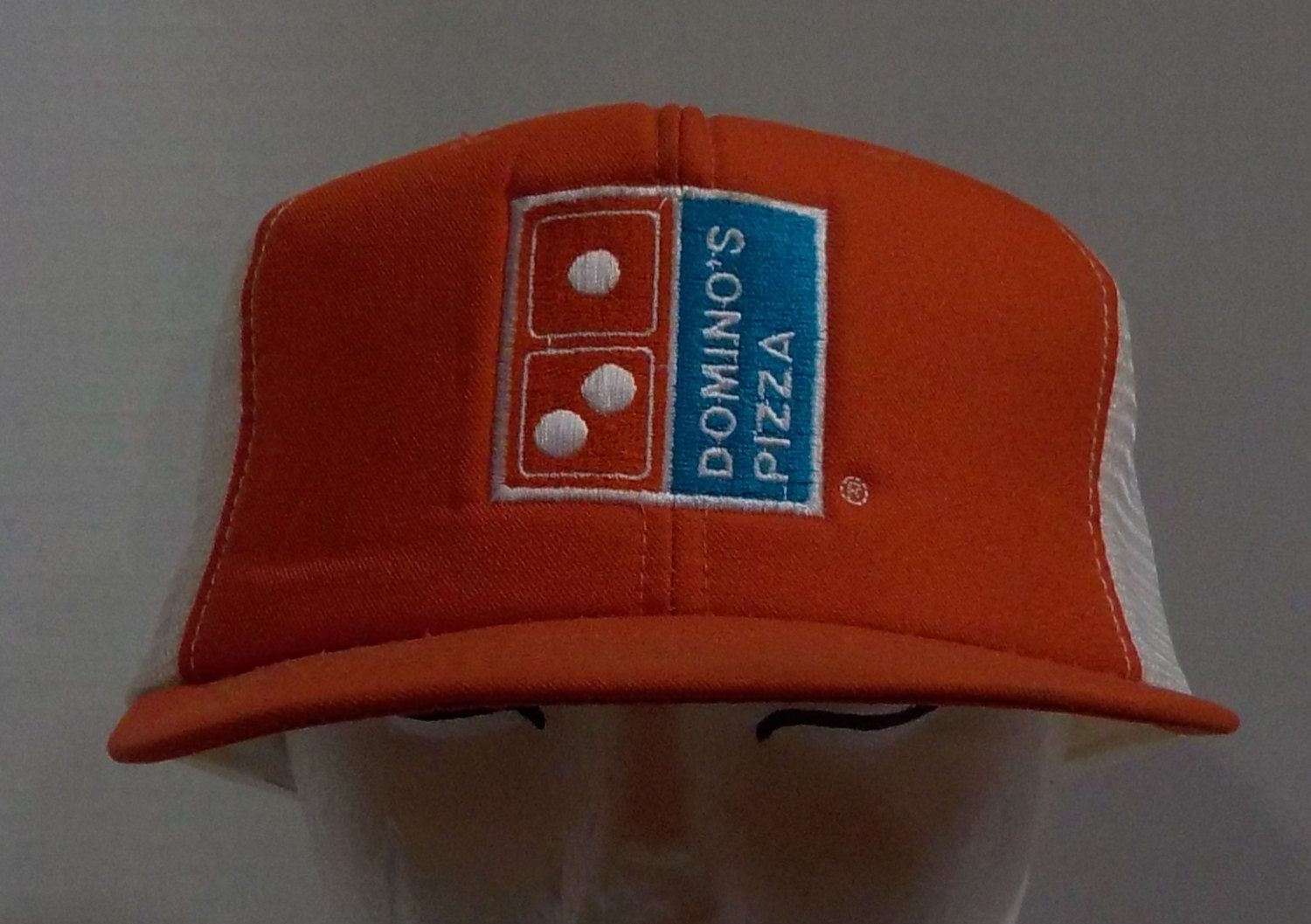 Vintage Domino's Pizza Early Eighties 1980's Red Truckers