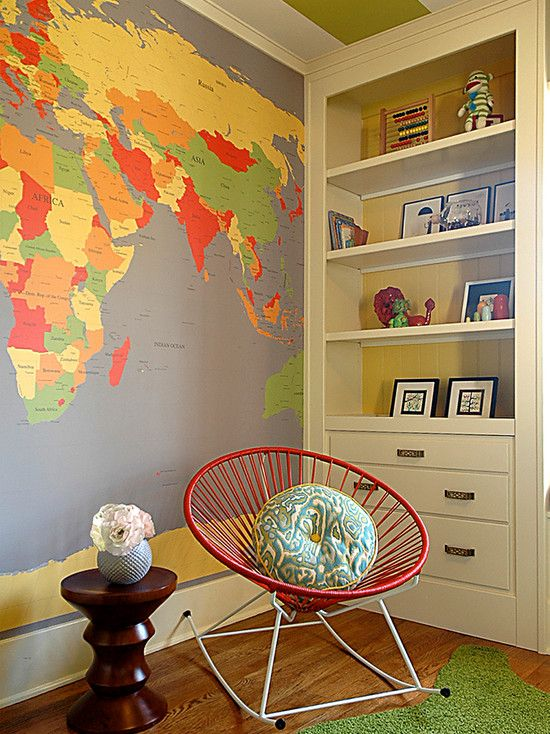 Nursery Ideas Map Childrens Wall Maps For Your Rooms Decorating - Wall map children's room