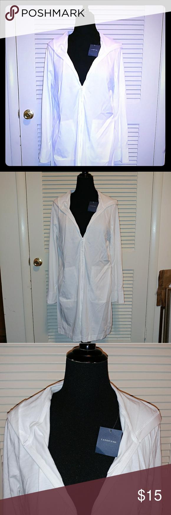 Bnwt Plus Size Lands End Zip Up Hoodie Clothes Design Fashion Design Fashion Tips [ 1740 x 580 Pixel ]