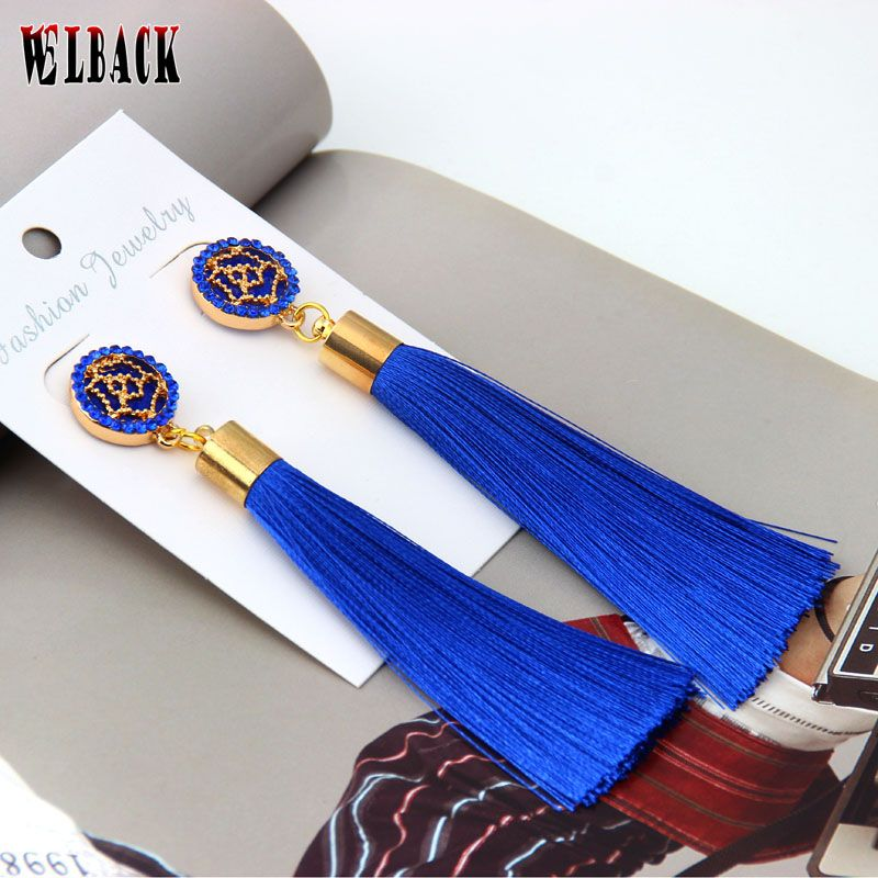2017 new fashion Trendy Rose pattern Palace style tassel Drop ...