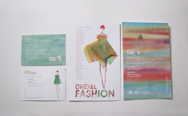 This Piece Was An Exploration Of Texture Illustration Watercolor And Screen Print It Was Abou Fashion Show Poster Fashion Show Invitation Fashion Invitation