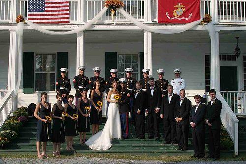 Military Wedding Party By Desiree Stover Photography Via Flickr Marine Corps Weddingmarine Colorsnavy