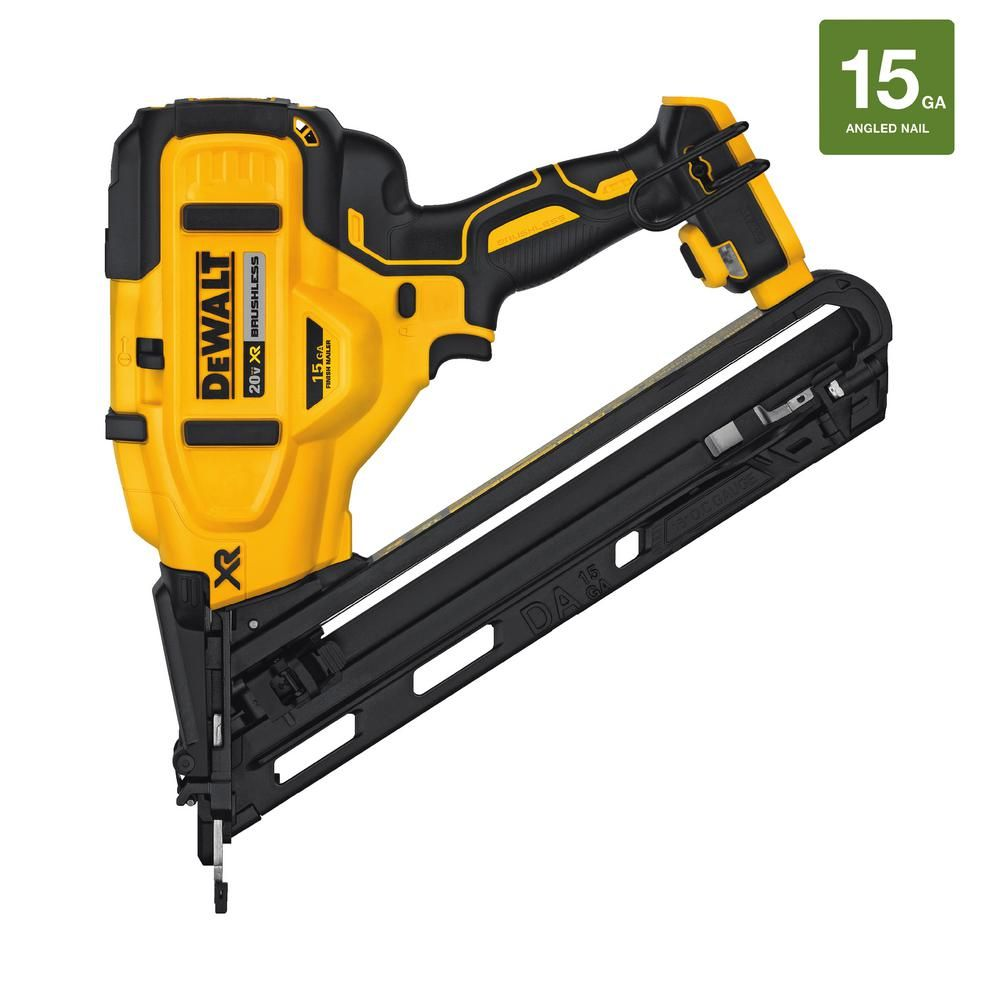Dewalt 20 Volt Max Xr Lithium Ion Cordless 15 Gauge Angled Finish Nailer Tool Only Dcn650b Finish Nailer Tools Installing Hardwood Floors