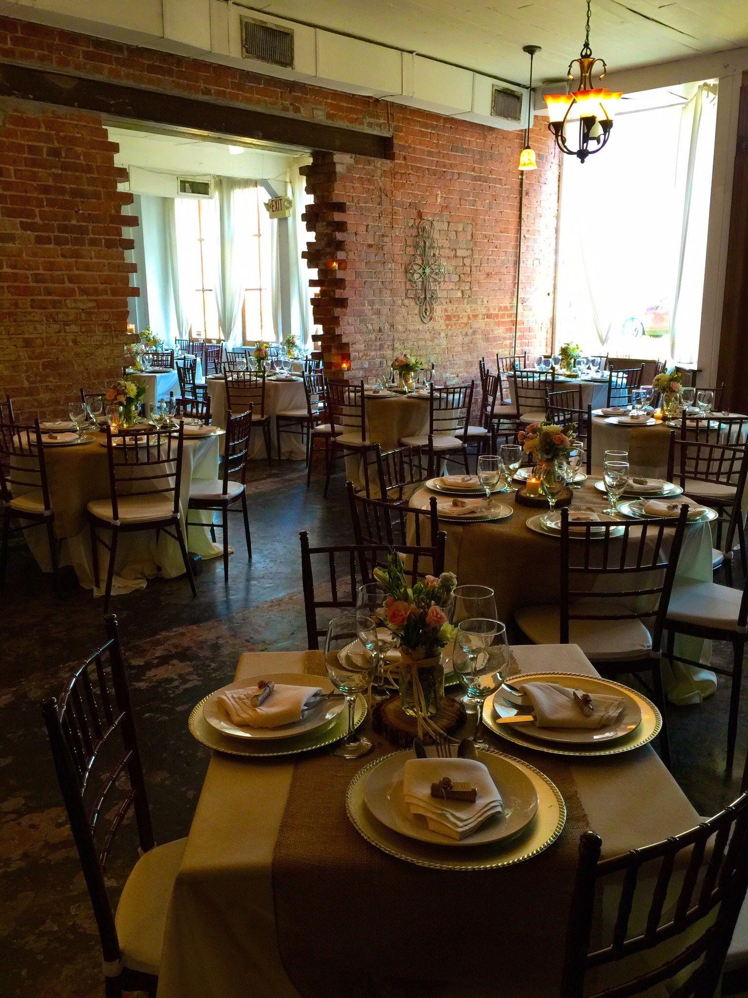 At the Cajun Cafe in Lake Charles, LA Louisiana wedding
