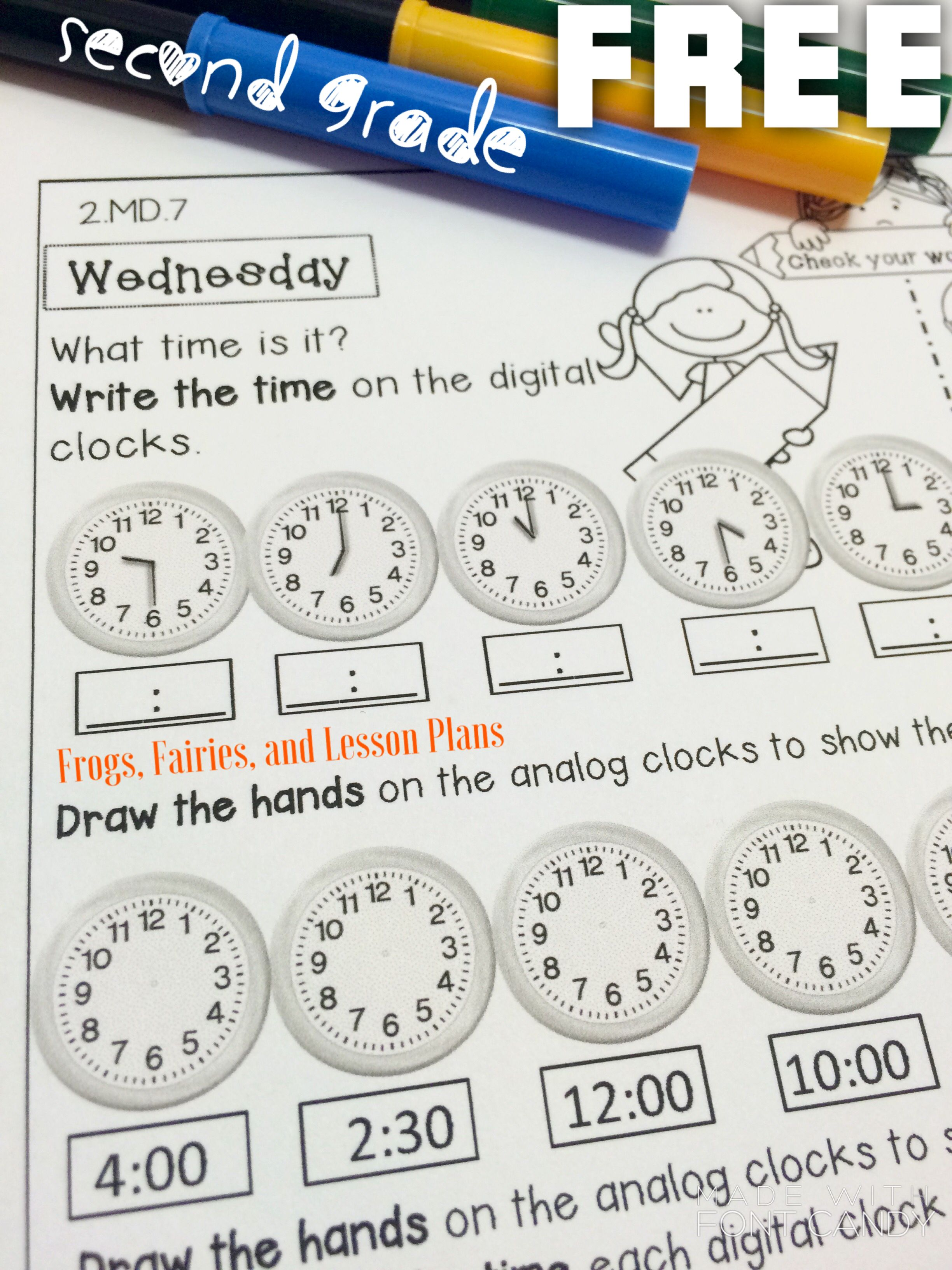 Second Grade Math Homework Freebie! This resource was carefully ...