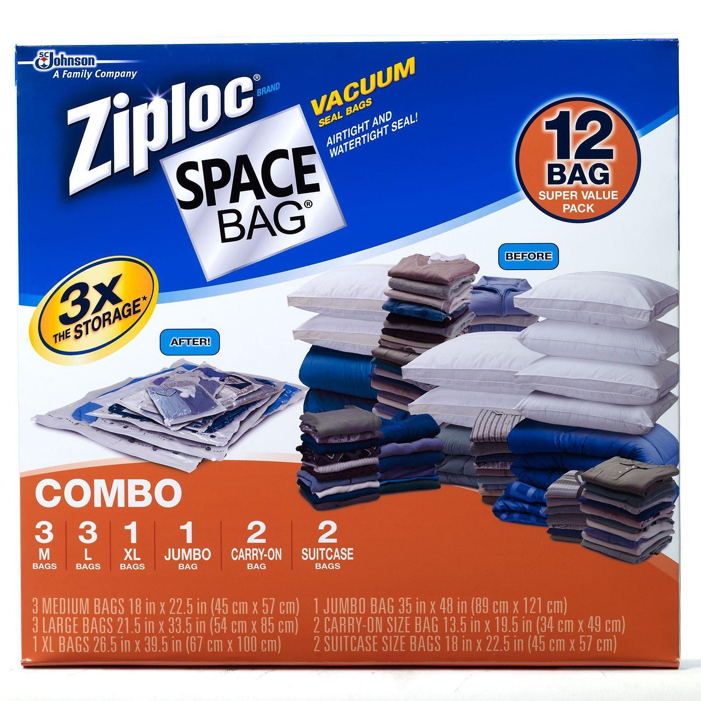 Ziploc E Bags 12 Ct Combo Sam S Club Vacuum Storage