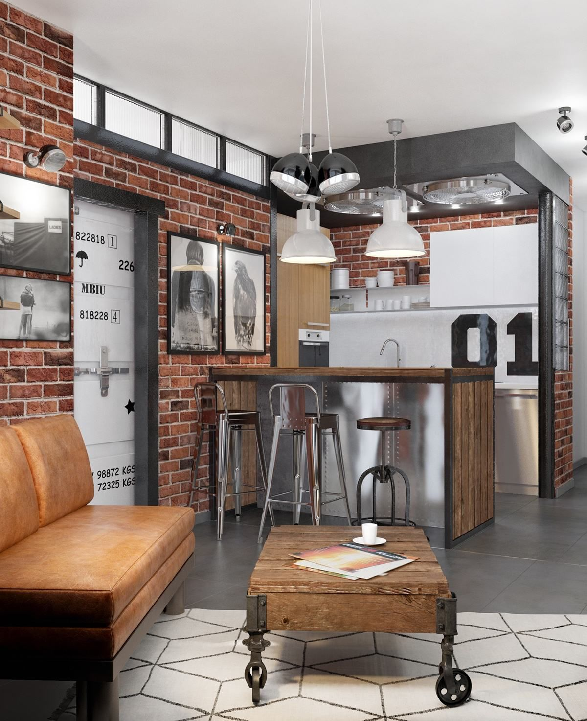 Bachelor Apartment Kitchen Design: How To Design Industrial Style Bachelor Pads: 4 Examples