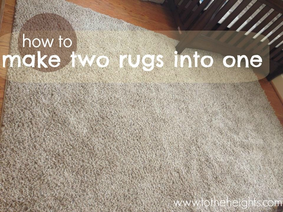 Diy Area Rug How To Make Two Rugs Into One