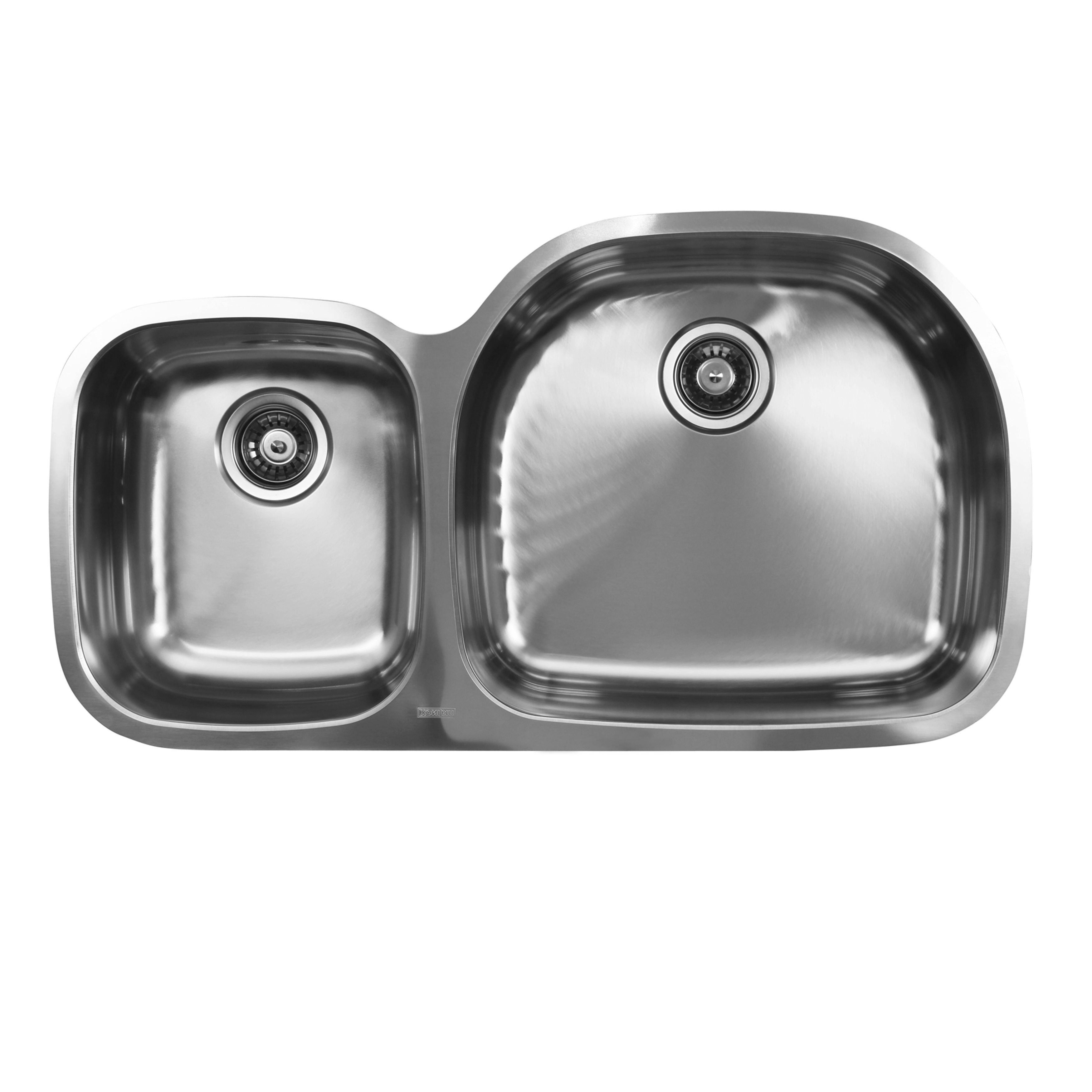 Ukinox D537 60 40 10r 60 40 Double Basin Stainless Steel