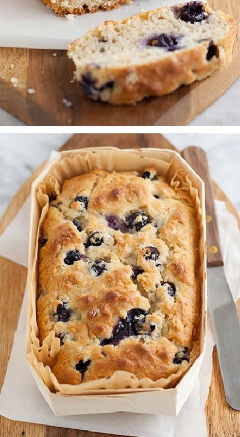 Blueberry Oatmeal Bread | CookJino