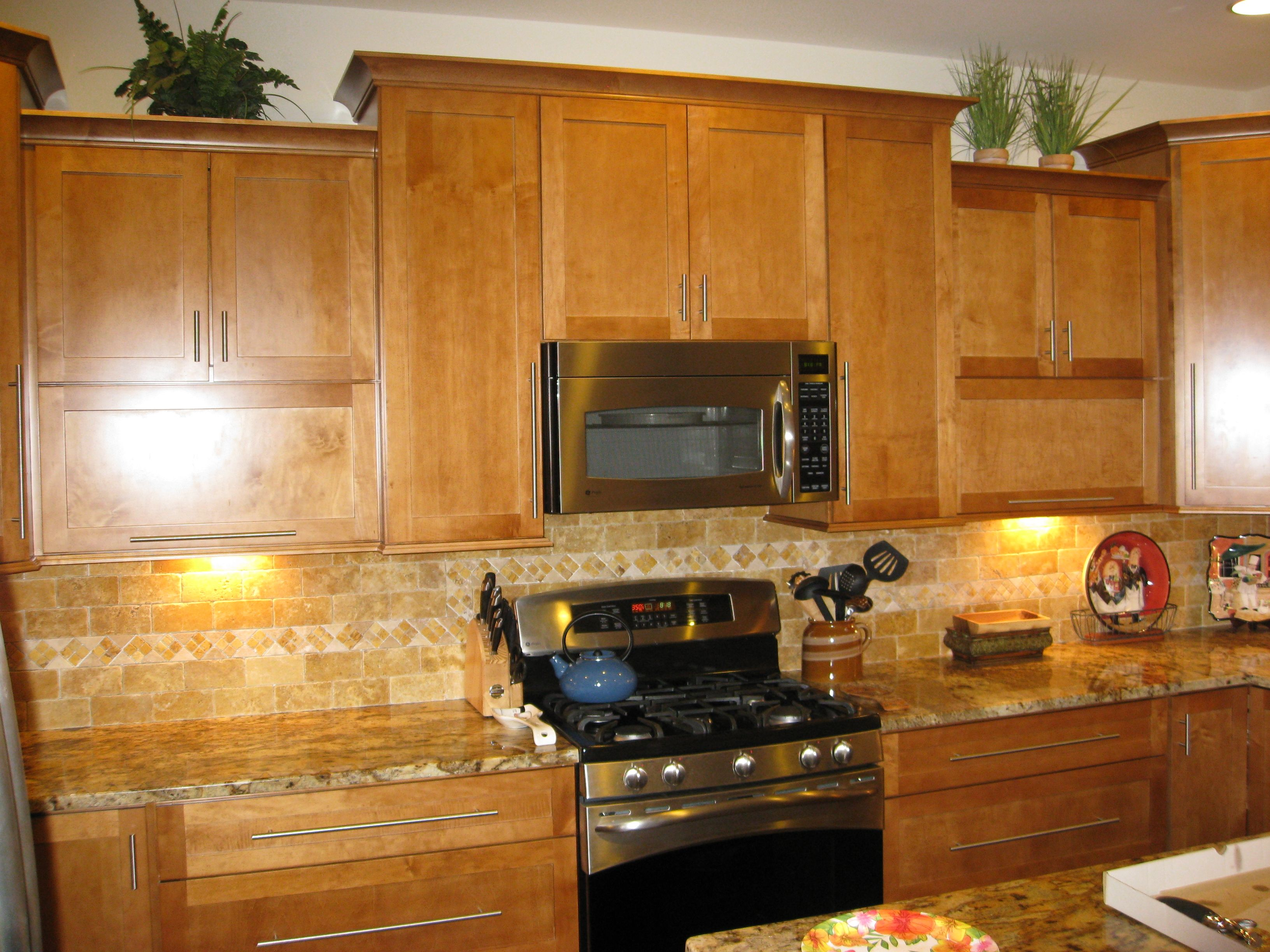 Best Granite for Maple Cabinets | ... maple shaker door – praline ...