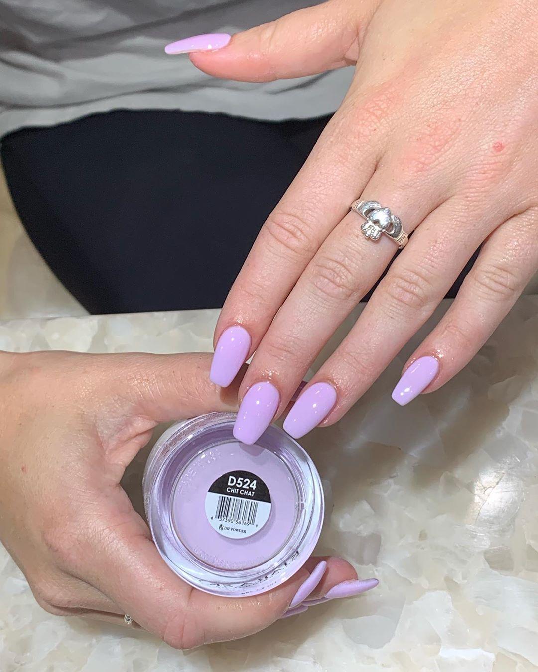 64 Trendy Dip Powder Nail Design Ideas Sns Nail Art Nail Shapes In 2020 Sns Nails Colors Lilac Nails Sns Nails Designs