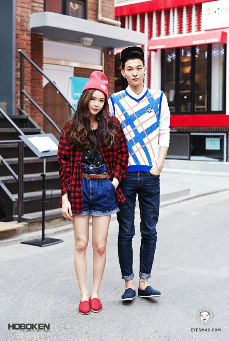 south-korean-street-fashion: Very American. Especially the look-a