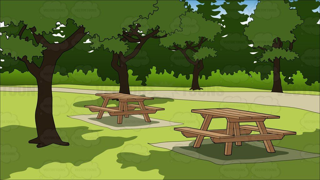 picnic tables in a park background clipart pinterest picnic tables. Black Bedroom Furniture Sets. Home Design Ideas
