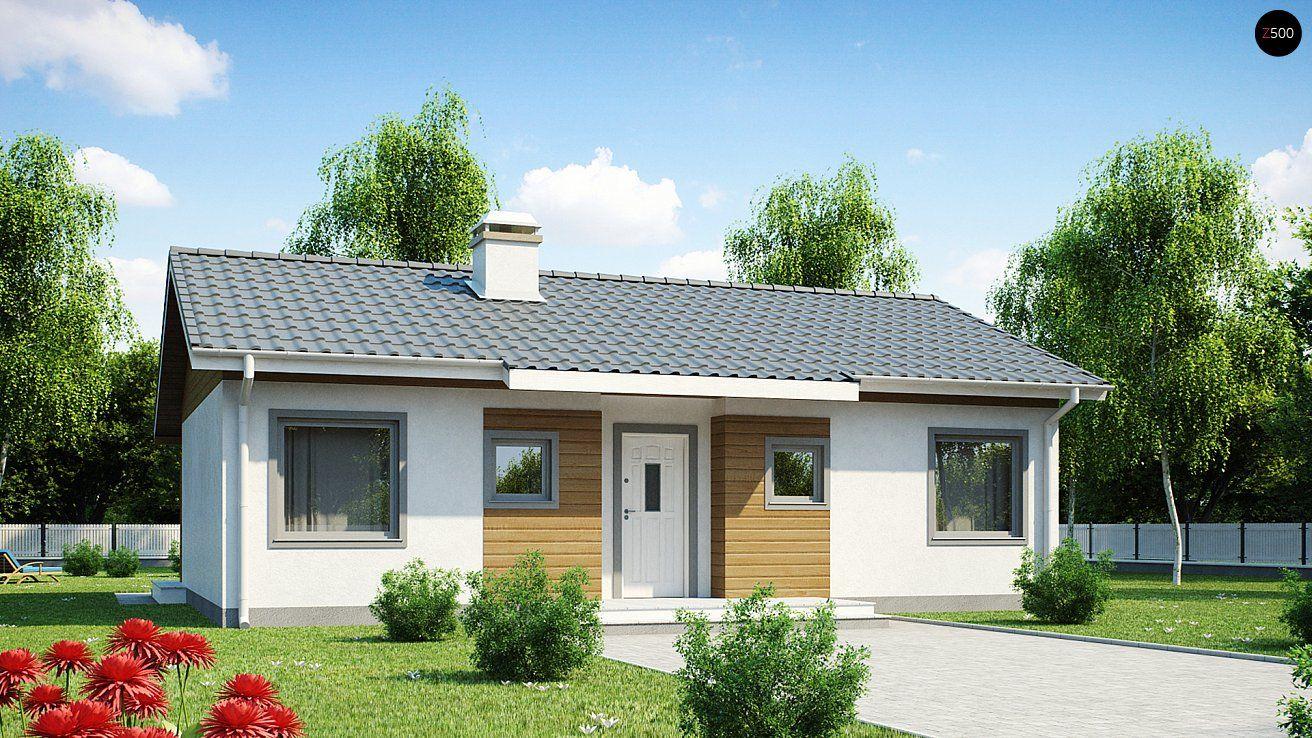 Компактный дом Z7 с двускатной крышей соединяет в себе функциональность, экономичность и практичность.