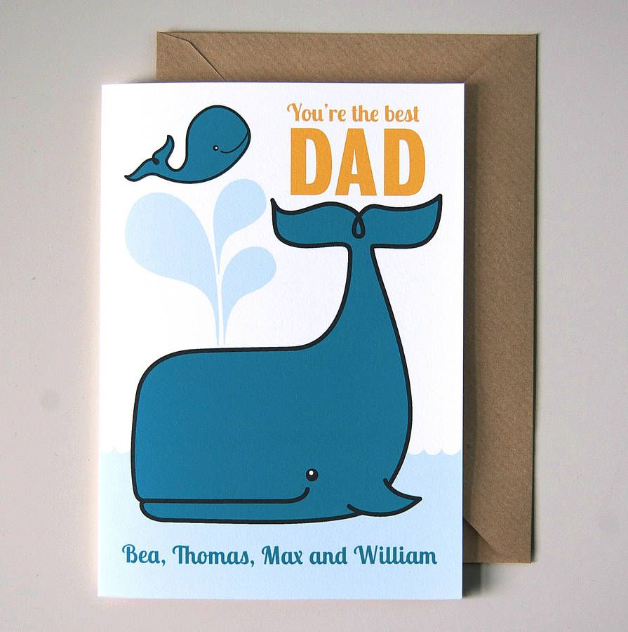 personalised father's day card  envelope  personalized