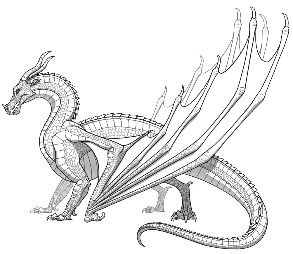 - SkyWings Dragon Coloring Page, Monster Coloring Pages, Realistic