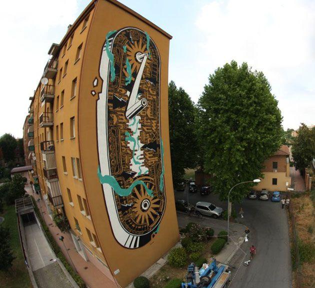 Mural M-City w Bolonii
