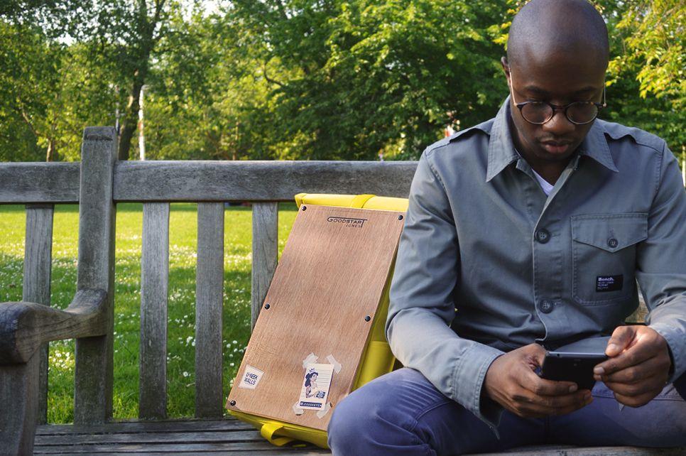 Goodstart Jones   Woodsack Backpack XL in Yellow PARK LIFE