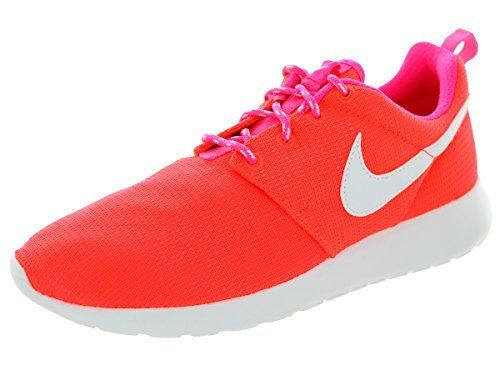 3c6e6445f453 Nike Kids Roshe One (GS) Running Shoe Lava Glow White Pink Pow (5.5 ...