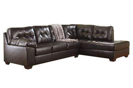 Alliston Chocolate 2 Piece Sectional W/Laf Chaise - Living Spaces