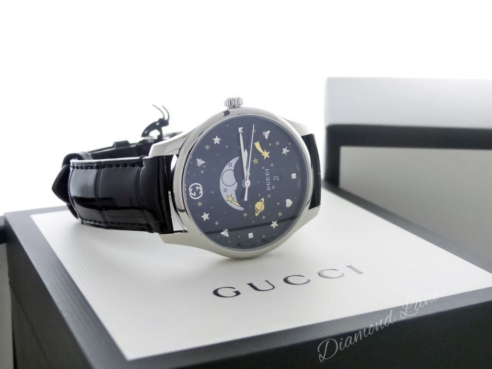 f3d56a1749f Gucci G-Timeless Quartz Moonphase Large Slim Men s Watch YA126327  Gucci