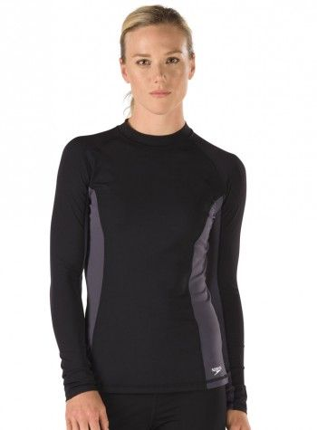c629109da6 Speedo Long Sleeve Rashguard | Chlorine Resistant Swimwear - Swim & Sweat.  This Long Sleeve Pullover Rashguard made from 100% chlorine resistant  lightweight ...