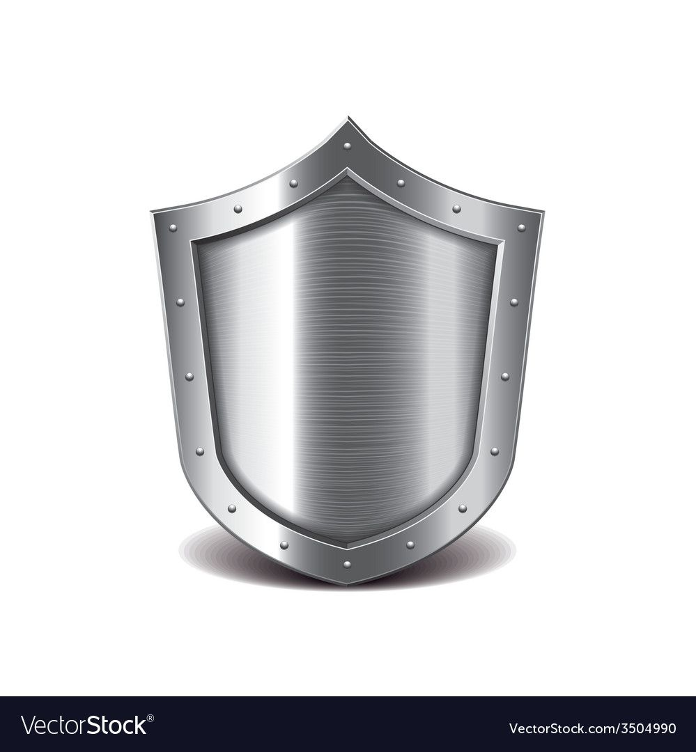 Metal Shield Isolated Royalty Free Vector Image Affiliate Isolated Shield Metal Royalty Ad Diamond Vector Metal Mirror Vector