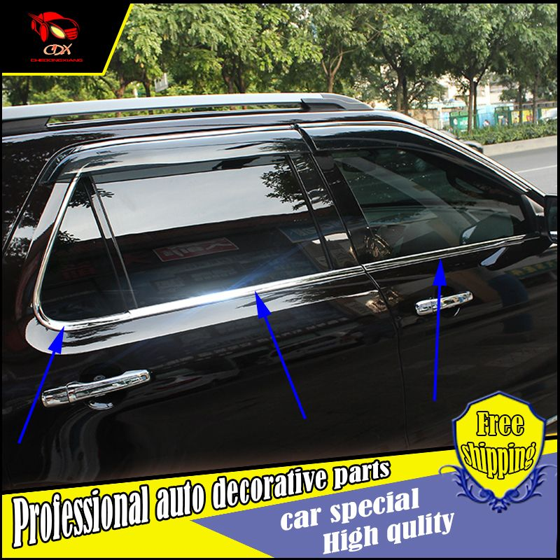 Car Styling Stainless Steel Window Trim Sticker For Ford Explorer 2016 Windows Frame Trim Sequin Cover Decorate Accessories With Images Ford Explorer Car Window Trim