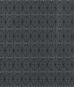 Robert Allen Contract Grid Frame Slate Fabric - $47.87 | onlinefabricstore.net