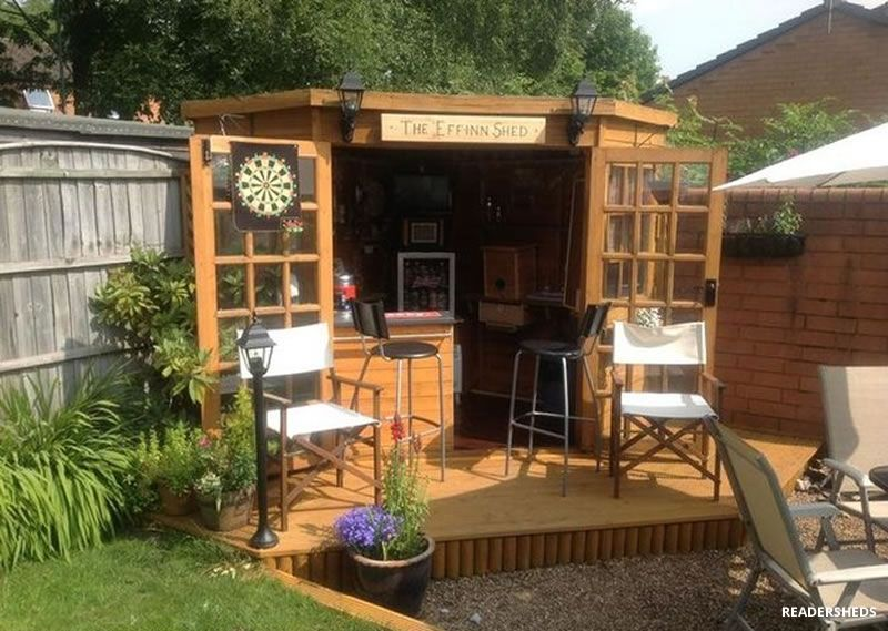 Transform Your Storage Shed Into Own Private Bar