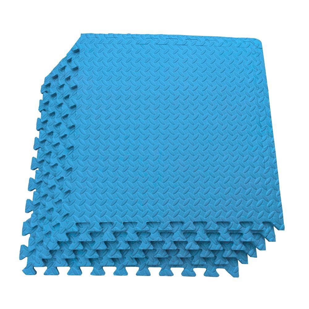 Ottomanson Multi Purpose Blue 24 In X 24 In Eva Foam