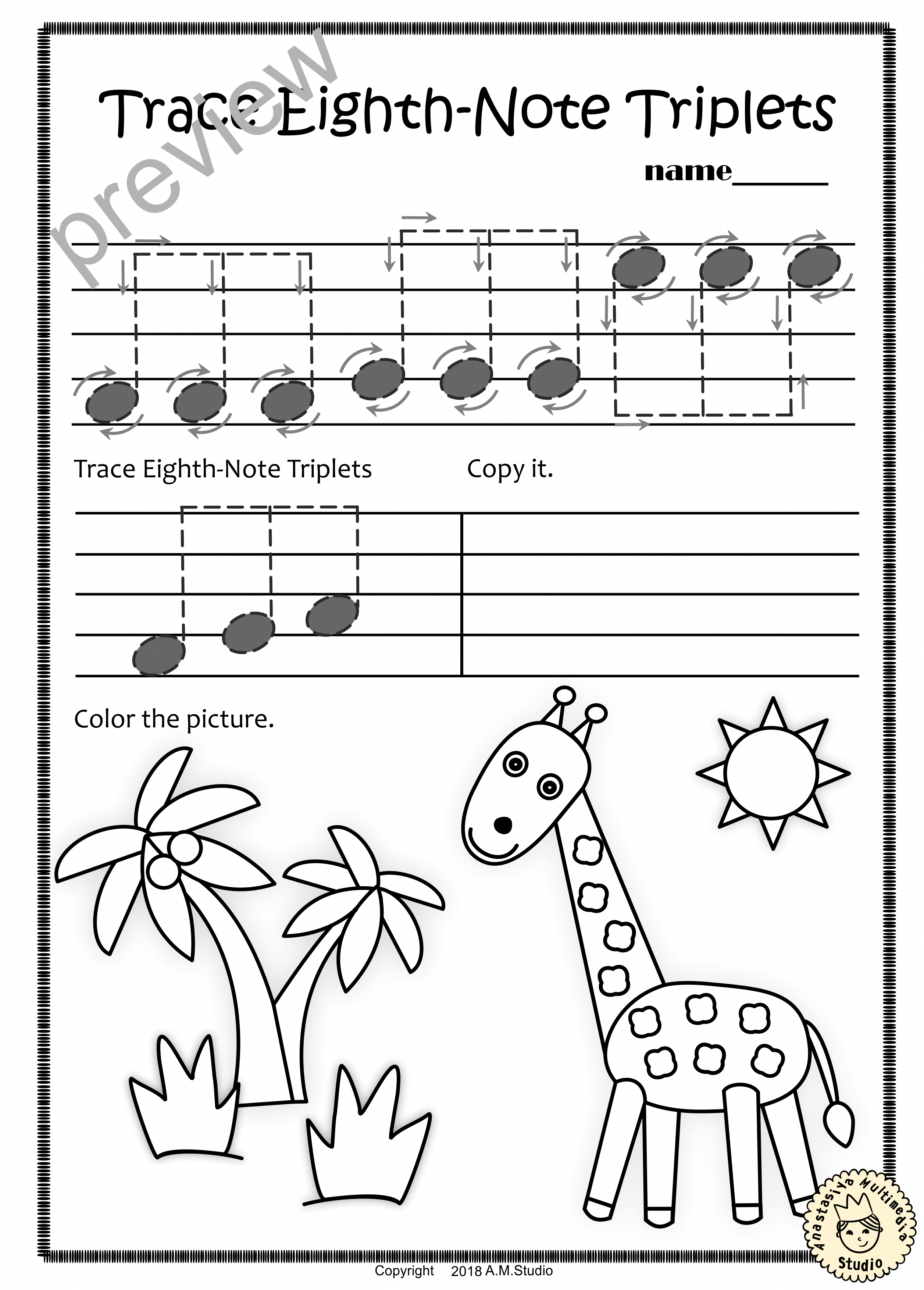 A Set Of 20 Summer Themed Music Worksheets Is Created To