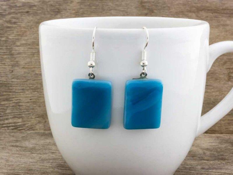 kiadási dátum: uk olcsó eladás online vásárlás Kék hullám üveg lógós fülbevaló | R.M. ékszer fülbevalók / R.M. ...