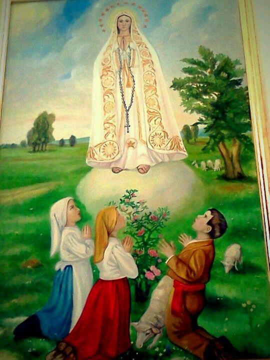 Virgen De Fatima Y Los Tres Pastorcitos Con Imagenes Imagenes