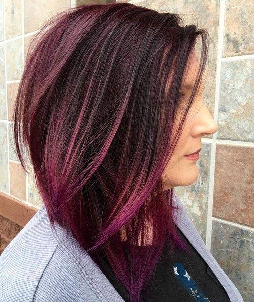 49+ Dark purple blunt cut bob trends