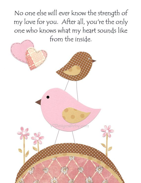 The Strength Of My Love In Pink And Brown Nursery Decor Kids Wall