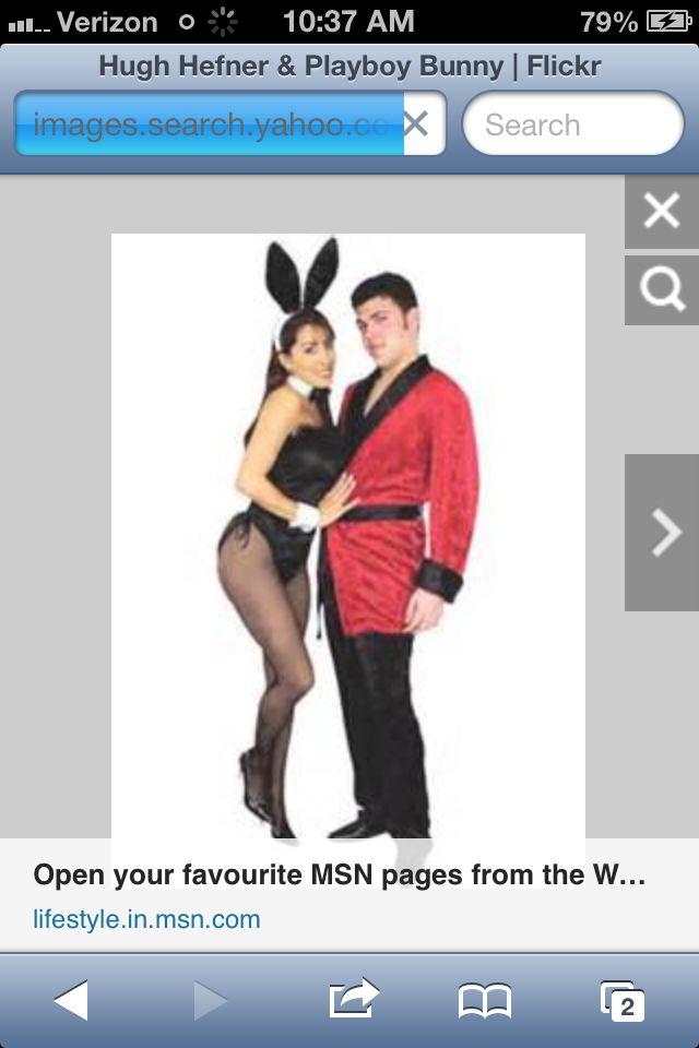 hugh hefner playboy bunny costume - Halloween Costume Playboy Bunny