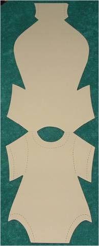 Onesie Full Size Template  Papercrafts    Onesie
