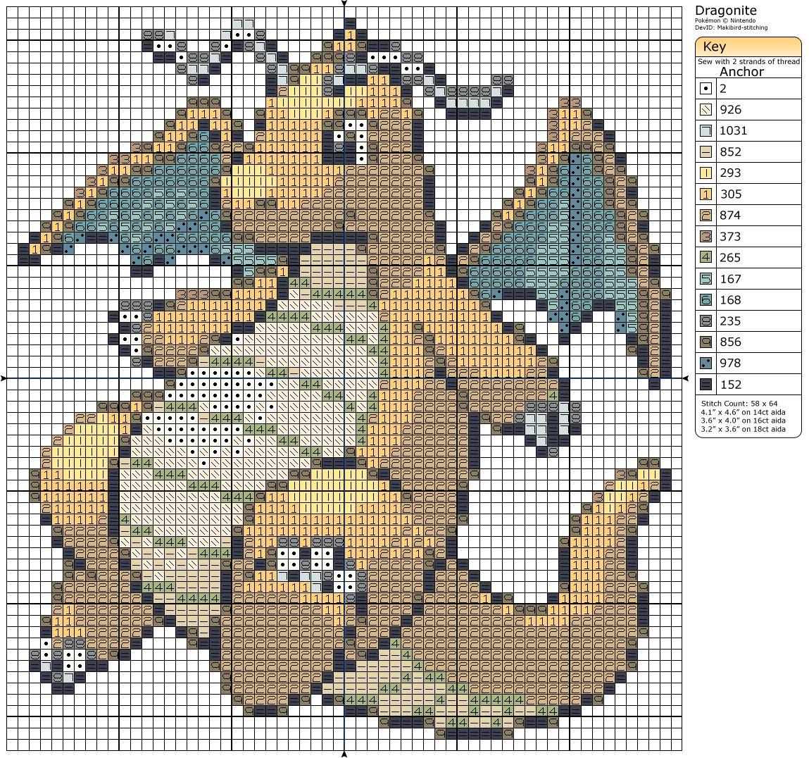 149 - Dragonite by Makibird-Stitching.deviantart.com on @deviantART ...