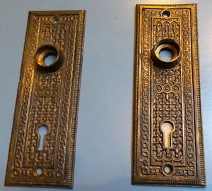 victorian exterior door hardware details about victorian brass entry door plate escutcheon antiques