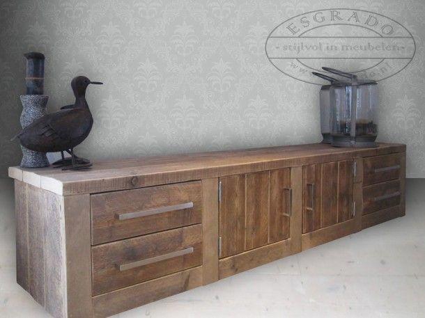 Grenen Slaapkamer Meubels : Ouder slaapkamer stoer tv meubel steigerhout. door 7144laura