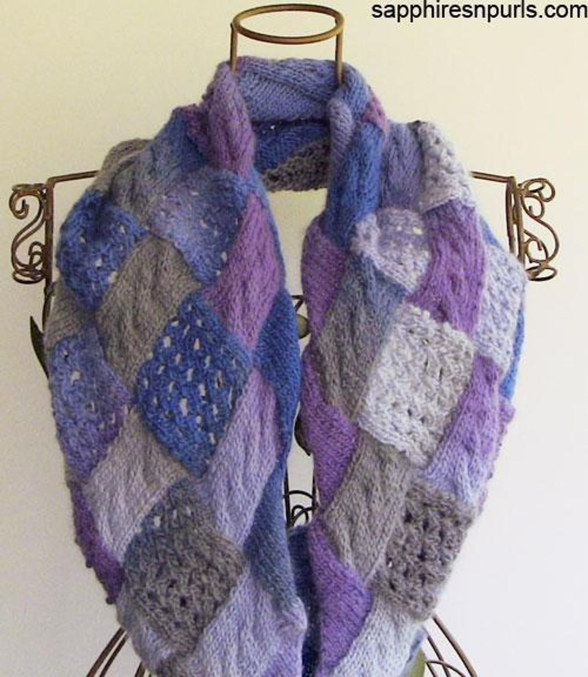 Cables and lace entrelac cowl cable knit scarf patterns and cables and lace entrelac cowl cowlsknitting patterns bankloansurffo Gallery