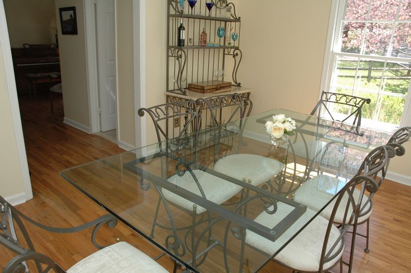 wrought iron dining set to include glass table with 6 chairs table rh pinterest com