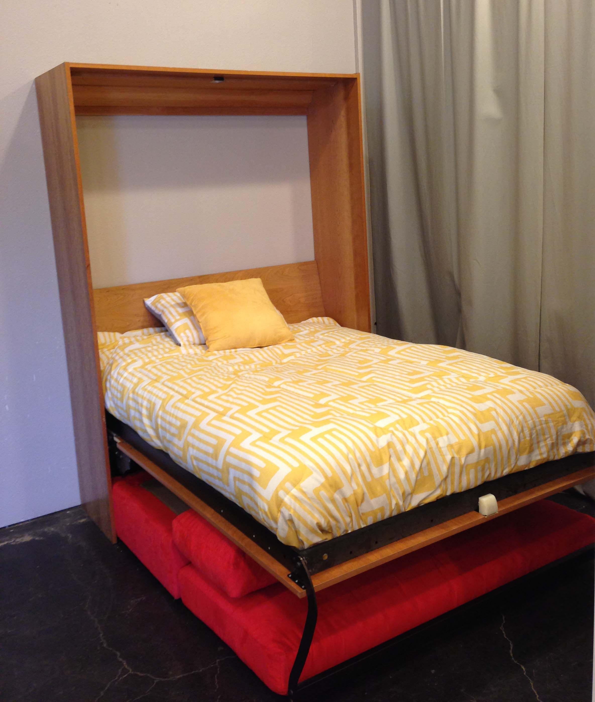 Murphy Beds And More Jupiter : Couch tucks neatly under the murphy bed when it is opened