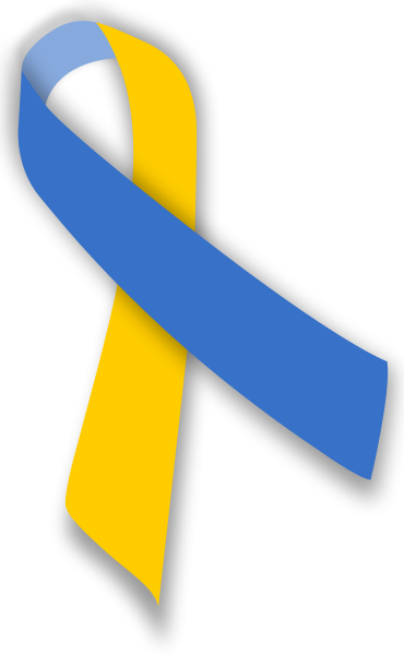 370px Blue And Yellow Ribbon Svg Png Affordable Life Insurance Down Syndrome Down Syndrome Awareness