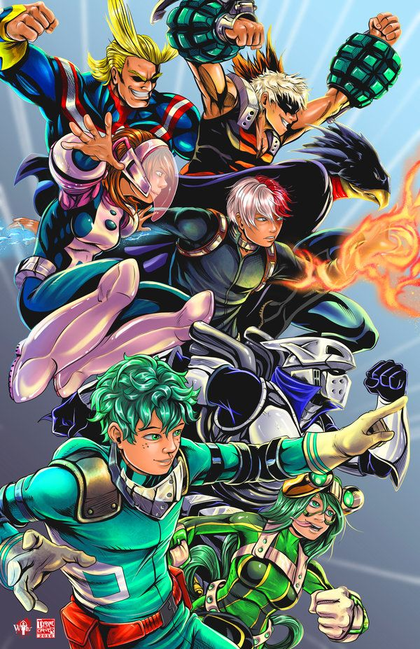 My Hero Academia by TyrineCarver deviantart com on