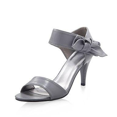 кожа верхних стилет каблук босоножки с свадьбы bowknot / участник обувь (1180-12714669) больше цветов - USD $ 14.39