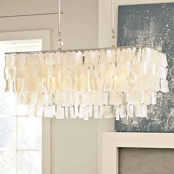 Capiz Shell Chandeliers Chandelier From West Elm The Rectangular Shape Is Just