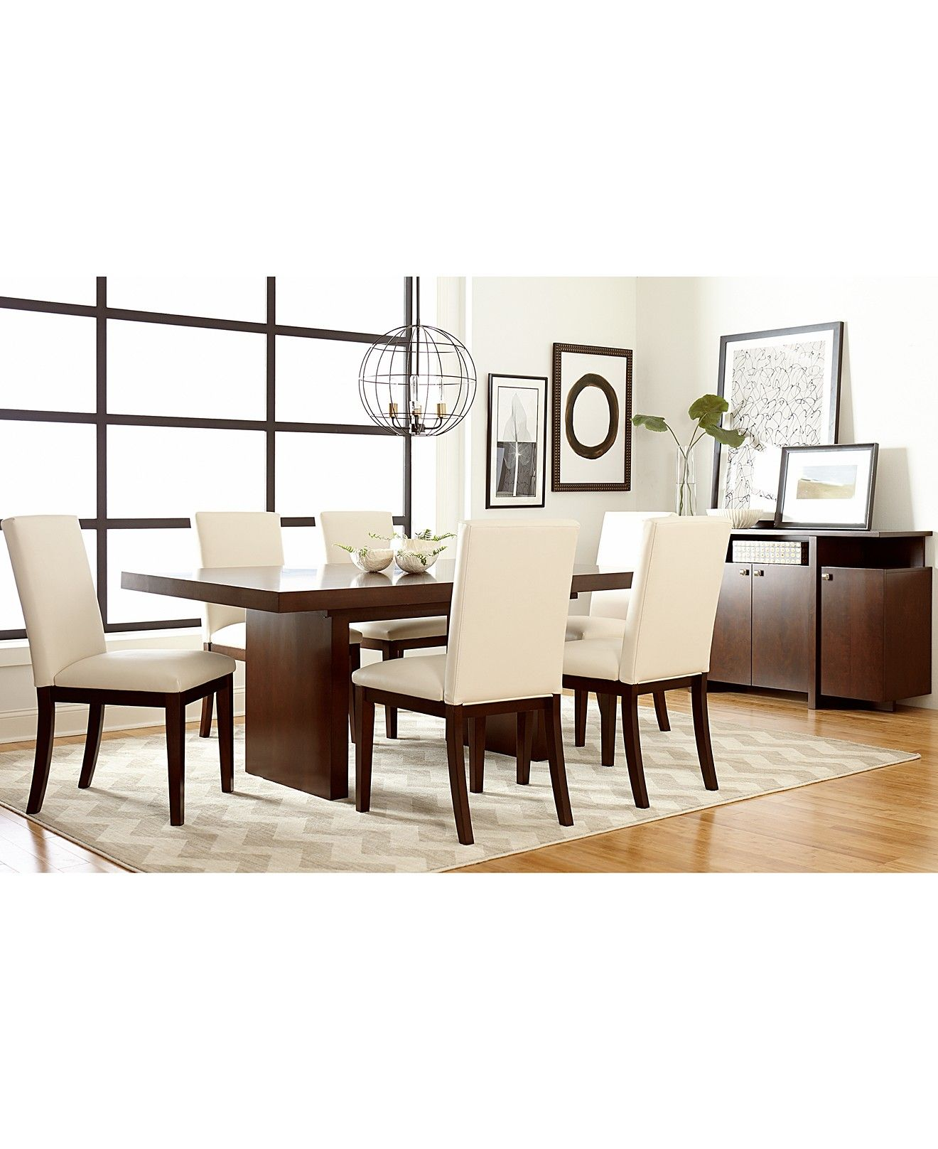 Bari Dining Table Furniture Macy S Dining Room Furniture